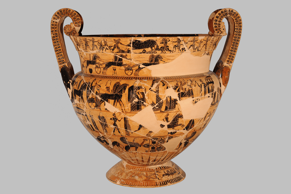 The Fran 231 Ois Vase In Florence Archaeological Museum